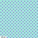 Tissu patchwork Tula Pink pois lavande fond lagon Pétunia TP118