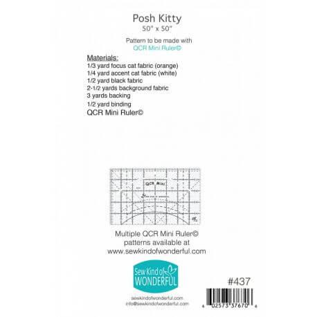 Posh Kitty - Modèle de patchwork