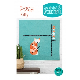 Posh Kitty - Modèle de patchwork