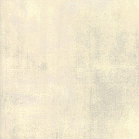 Tissu patchwork faux-uni patiné écru Abaca - Grunge de Moda