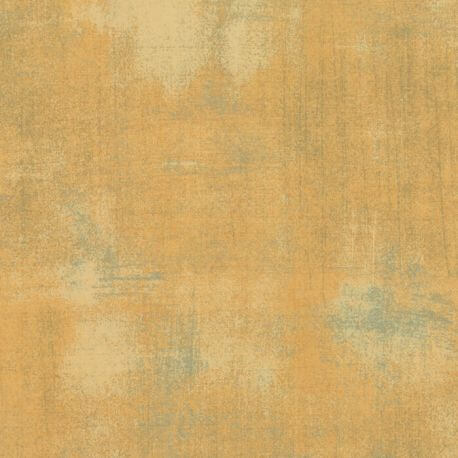 Tissu patchwork faux-uni patiné jaune moutarde - Grunge de Moda