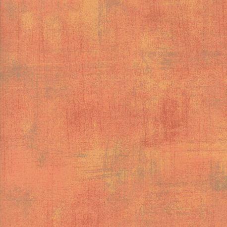 Tissu patchwork faux-uni patiné melon Cantaloup - Grunge de Moda