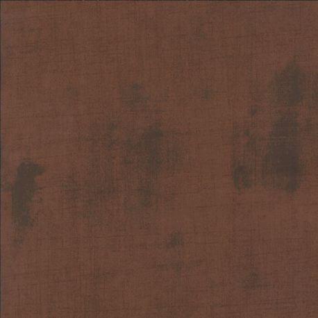 Tissu patchwork faux-uni patiné brun Rhum raisin - Grunge de Moda