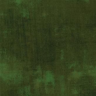 Tissu patchwork faux-uni patiné vert forêt - Grunge de Moda