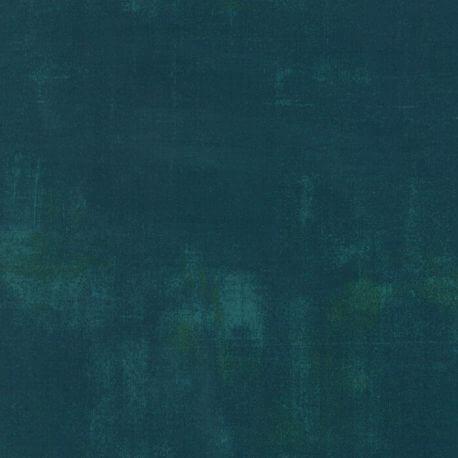 Tissu patchwork faux-uni patiné vert jade foncé - Grunge de Moda