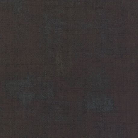 Tissu patchwork faux-uni patiné Expresso - Grunge de Moda