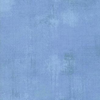 Tissu patchwork faux-uni patiné bleu poudré - Grunge de Moda