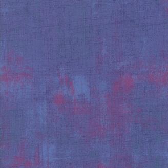 Tissu patchwork faux-uni patiné bleu-violet Tori - Grunge de Moda
