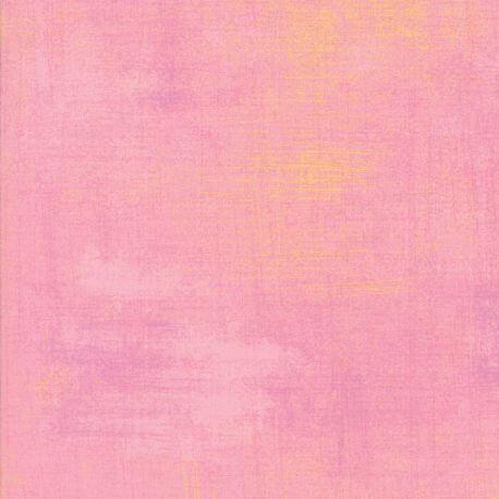 Tissu patchwork faux-uni patiné rose Sakura - Grunge de Moda