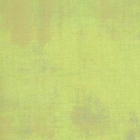 Tissu patchwork faux-uni patiné vert popline - Grunge de Moda