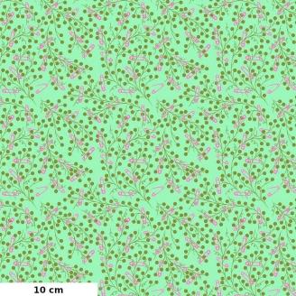Tissu patchwork épingles à nourrice vert jade - Homemade de Tula Pink