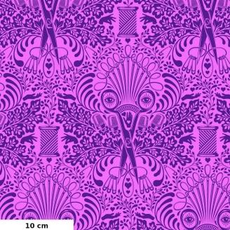 Tissu patchwork mercerie en trompe l'oeil rose et violet - Homemade de Tula Pink