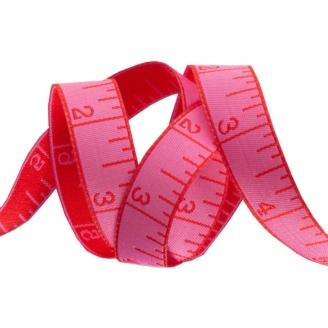 Ruban Tula Pink Measure twice mètre ruban rose - Homemade (par 10 cm)