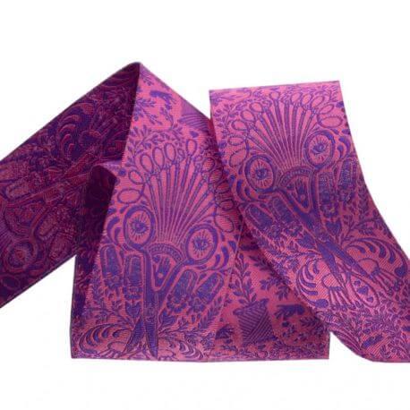Ruban Tula Pink Getting Snippy violet et rose - Homemade (par 10 cm)