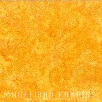 Tissu batik jaune tournesol pétillant