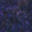 Tissu batik bleu/violet Vegas pétillant