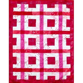 Gaufre à la fraise - modèle et kit de patchwork