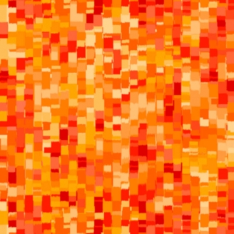 Tissu patchwork mosaïque orange - Ombre Squares