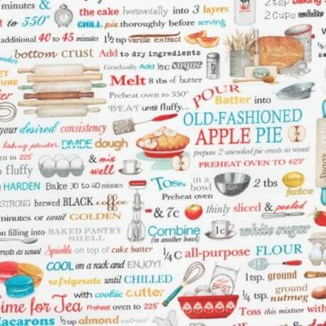 Tissu patchwork Cuisinons ! - Kiss the cook