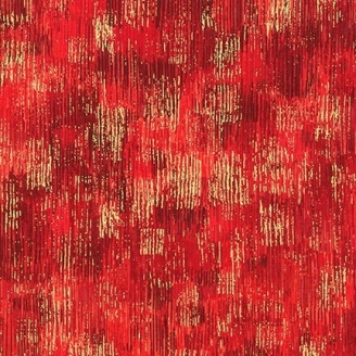 Tissu patchwork coups de pinceau rouge - Fusions Brushwork