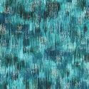 Tissu patchwork coups de pinceau bleu canard - Fusions Brushwork