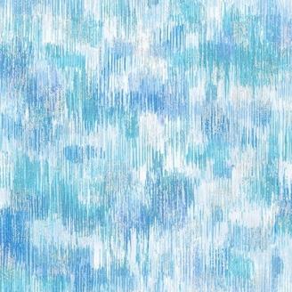 Tissu patchwork coups de pinceau bleu de glace - Fusions Brushwork