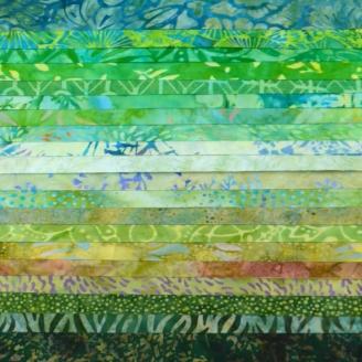 Joli roll de tissus batik - Mississipi