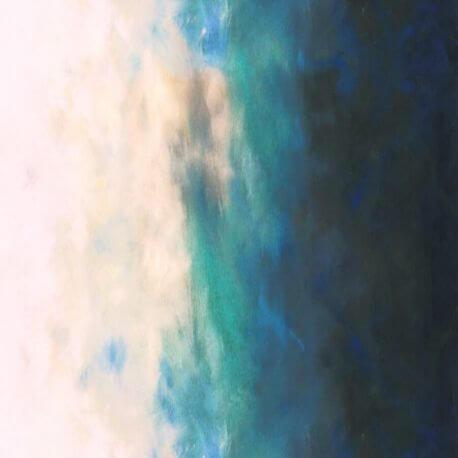 Tissu patchwork dégradé ciel au crépuscule - Sky