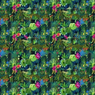 Tissu patchwork jungle mexicaine - Viva Mexico