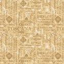 Tissu patchwork appellations de crus et cépages (écritures vins)