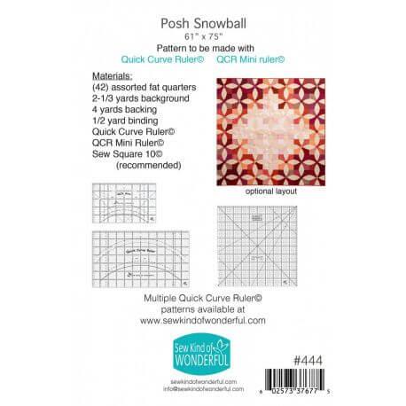 Posh Snowball - Modèle de patchwork