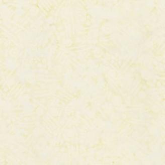 Tissu batik feuillage écru ton sur ton