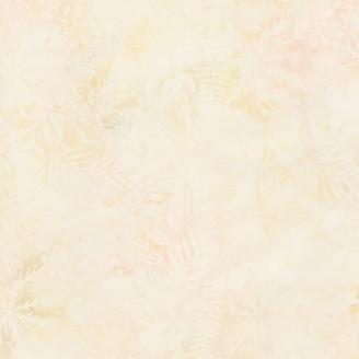 Tissu batik forêt tropicale écrue ton sur ton
