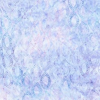 Tissu batik ovales lavande