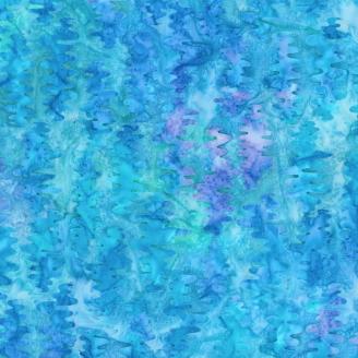 Tissu batik vaguelettes bleues