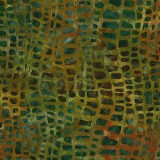 Tissu batik vert peau de crocodile