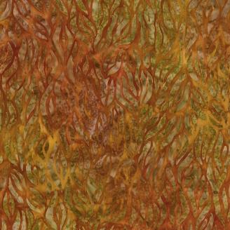 Tissu Batik bambouseraie vert-marron