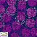 Tissu patchwork anémones fuchsia fond marine - Sea the good things