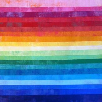 Layer cake de tissus patchwork Grunge Arc-en-ciel