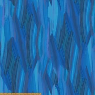 Tissu patchwork bleu transitions abstraites - Horizon
