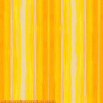 Tissu patchwork jaune transitions abstraites - Horizon