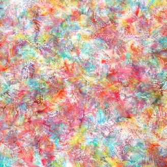 Tissu batik buisson multicolore