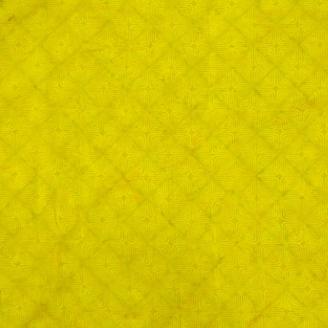 Tissu batik pétales géométriques vert chartreuse