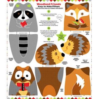 Coussins à coudre animaux de la forêt (Woodland friends)