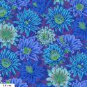 Tissu patchwork Philip Jacobs Fleur de Cactus PJ096 bleu violet
