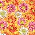 Tissu patchwork Philip Jacobs Fleur de Cactus PJ096 jaune