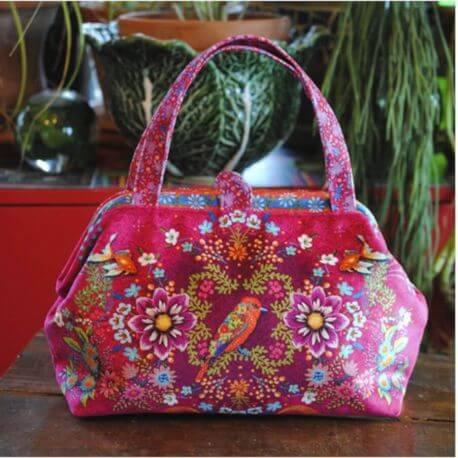 Sac clic-clac Bornéo fuchsia - kit de couture