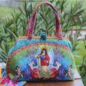 Sac clic-clac Eden turquoise - kit de couture