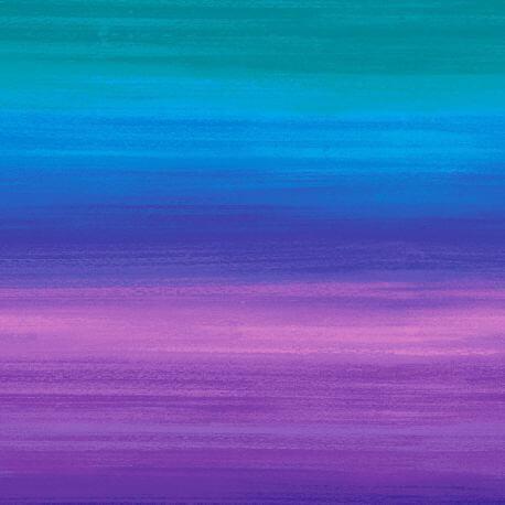 Tissu patchwork rayures Misty bleu, paon, violet