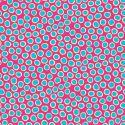 Tissu patchwork pois bleus fond fuchsia - Reef
